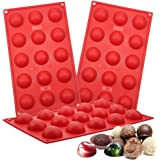 Aokinle Silicone Sphere Chocolate Molds, European-Grade Mini Dome Baking Molds, Half Sphere Molds for Candy, Chocolate, Jello