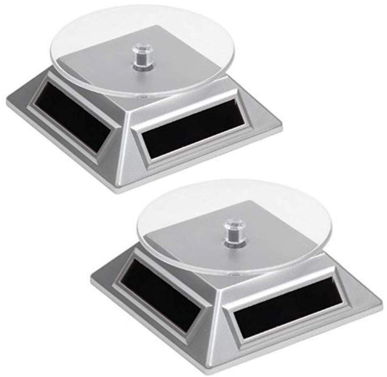 Solar Drehteller Präsentierteller Drehbühne Werbe Aufsteller Stand Schmuck Uhren