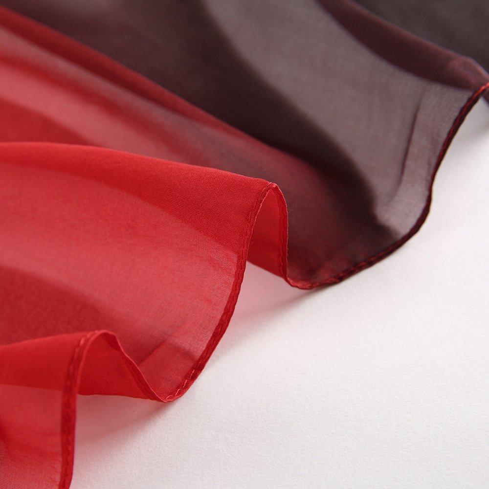 LEIDAI Frauen Seidenschal Elegante Leichte Lange Verlaufsfarben 100% Seidenschal Anti Allergie Tuch Sonnenschutz(Schwarze, 175 cm* 62 cm)