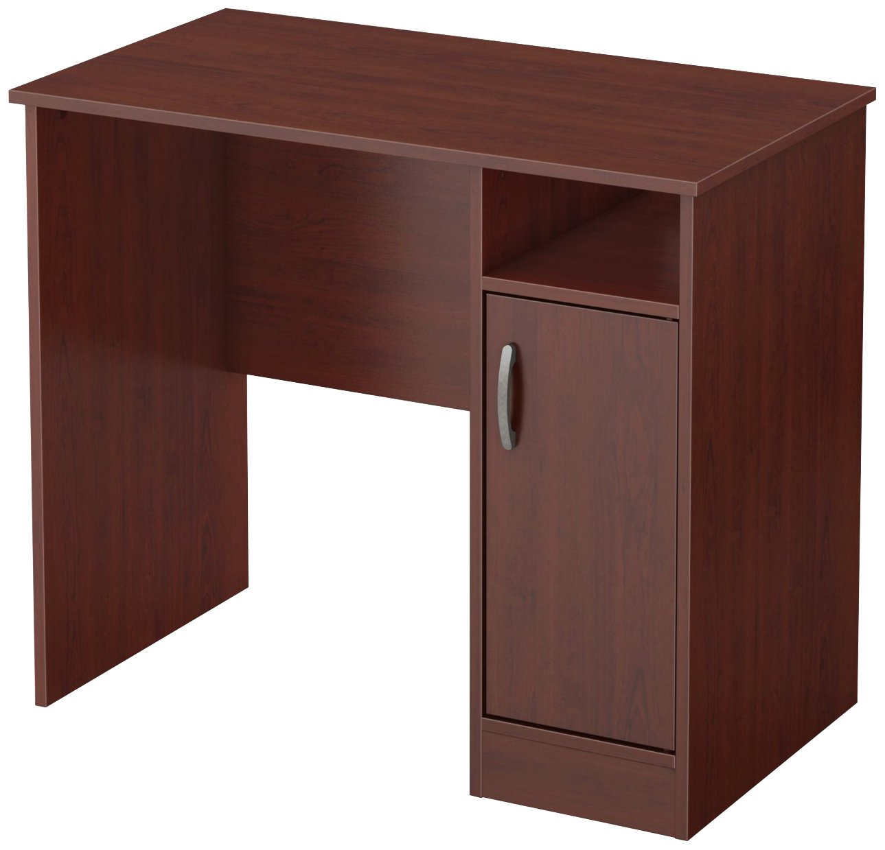 South Shore Small Computer Desk with Door, Royal Cherry