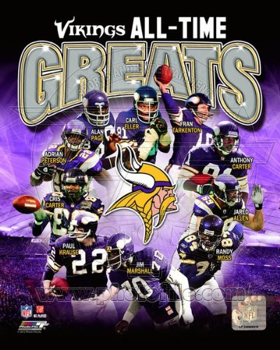 Minnesota Vikings NFL All Time Greats 8x10 Photo