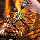 Danslesbls Digital Thermometer - Cooking Thermometer - Instant Read Stainless Meat Thermometer Long Probe Thermometer for Food, Meat, Grill, BBQ, Milk, and Bath Water