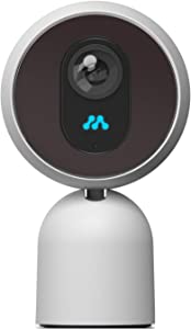 Momentum Robbi 1080p Home Security Camera, Indoor 2.4/5Ghz IP Surveillance System with Night Vision for Home/Office/Baby/Nanny/Pet Monitor with iOS, Android App, Free Cloud Service - No Cost, White
