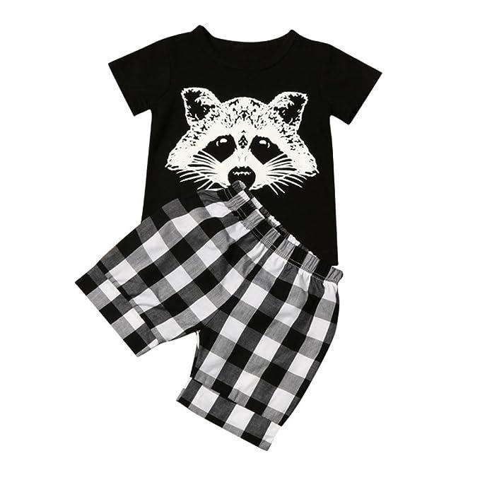 719e0aa522f11 LuckyGirls 2 Stück Kinderkleidung Set Baby Jungen Outfits Fuchs ...