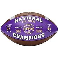 $99 » Sports Memorabilia Wilson LSU Tigers College Football Playoff 2019 National Champions Leather Commemorative Football - Fanatics Authentic…