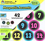white board with numbers - Teacher Created Resources 77280 Chalkboard Brights Numbers Magnetic Accents