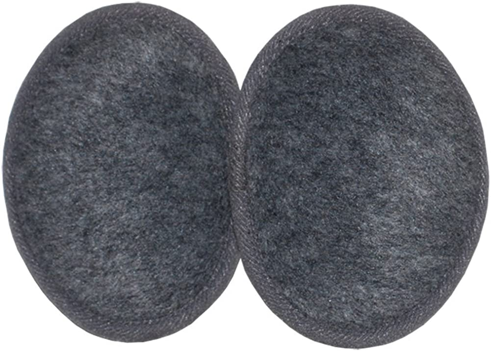 Ear Mitts Bandless Ear Muffs For Men & Women, Soft Fleece Ear Warmers, 2 Sizes