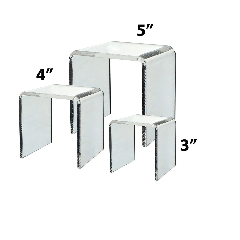 Clear Acrylic Riser Set of 3 (3-Inch, 4-Inch, 5-Inch) ifavor123