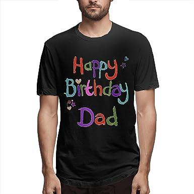 BGFYJN Happy Birthday Daddy Mens Short Sleeve T Shirt 100 Cotton Black