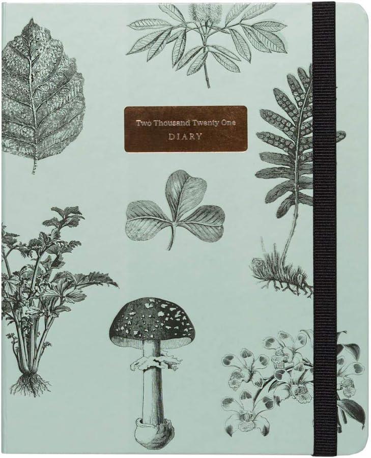 Kokonote by Erik - Agenda 2020-2021 semana vista Botanica, Edición premium, 17 meses (16,5x20 cm)
