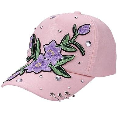 BOERMO - Gorra de béisbol para Mujer, diseño de Rosas, Bordado con ...
