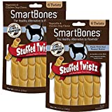 Cheap SmartBones Stuffed Twistz Dog Chew, Rawhide & Porkhide Free, Peanut Butter (2 Pack)