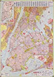 Vintage 1964 Map of Street map, New York City Long Island, New York, New York City, New York Region, United States
