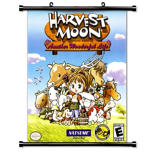 Harvest Moon Game Fabric Wall Scroll Poster  Inches