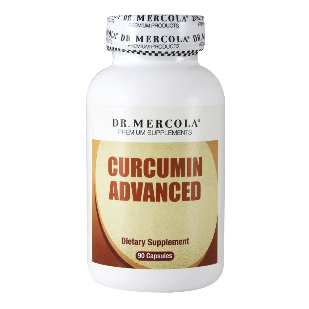 Dr. Mercola Curcumin Advanced - 500 mg 90 Capsules - MicroActive® Technology Capsule - Sustained Release for Maximum Absorption - Helps Maintain Prostate Health, Brain Health, and Gallbladder Function