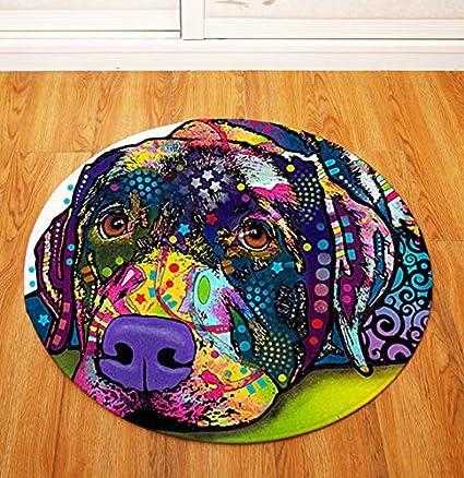 Kreative Runde Teppich Persönlichkeit Tier Wohnzimmer ...