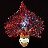 Real Cottonwood Leaf in Iridescent Finish Nightlight