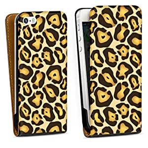 Diseño para Apple iPhone 5 S DesignTasche Downflip black - Wildlife
