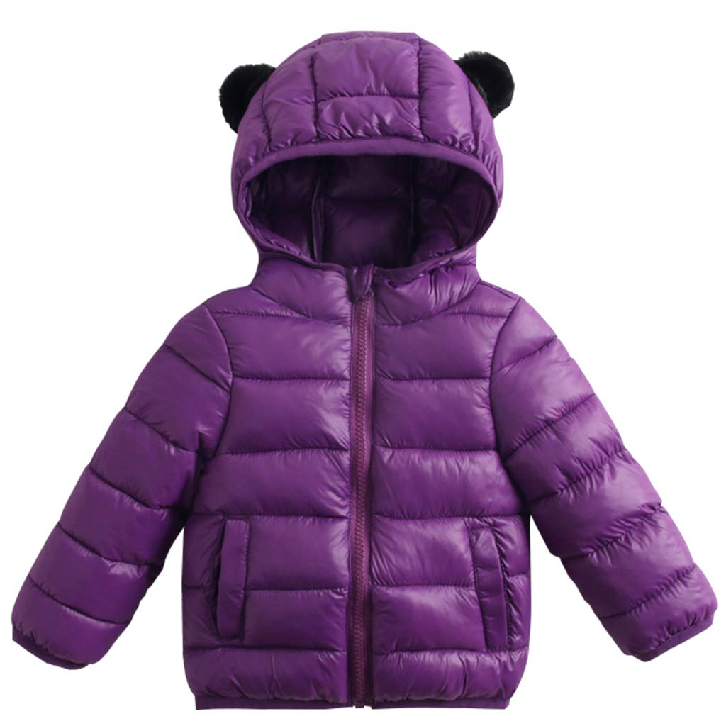 Kids Baby Down Jacket Unisex Hoodie Puffer Coat Winter Windproof Padded Jacket Vine Trading Co. Ltd K180823MF002V