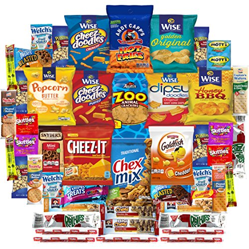 Munch Pack Snacks Cookies Candies Crackers & More Care Package Assortment Includes Goldfish, Skittles, Cheez It, Chex Mix. Planters, Quaker, Snyders & More Bulk Samplet (50 Count) (Brownie Points Popcorn compare prices)