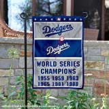 WinCraft Los Angeles Dodgers 6-Time World Series Champions Double Sided Garden Flag