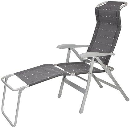 Sedie Sdraio Alluminio Con Poggiapiedi.Spiaggia Sedia In Alluminio 7 Posizioni Con Poggiapiedi