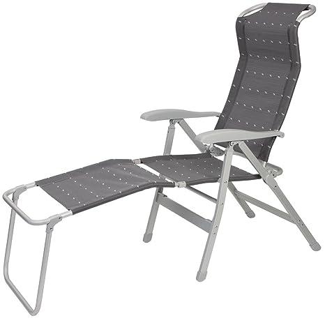 Sedie Sdraio Alluminio Con Poggiapiedi.Spiaggia Sedia In Alluminio 7 Posizioni Con Poggiapiedi Rimovibile
