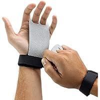 CoWalkers Apretones de mano de cuero texturado para entrenamiento cruzado, protección de la palma y soporte de muñeca para entrenamiento cruzado, flexiones, levantamiento de pesas, dominadas, entrenamiento