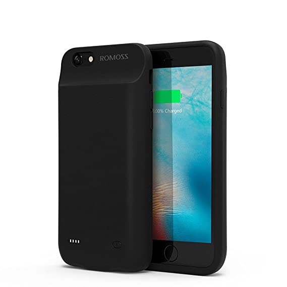 pretty nice 309ee f905d iPhone 6/6s Battery Case, ROMOSS Ultra Slim Extended Battery Case for  iPhone 6/6s (4.7 inch) with 5600mAh Capacity/200% Extra Battery (Black)