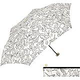 a.s.s.a 折りたたみ傘 レディース おしゃれ ジップケース付 コンパクト 雨傘 軽量 50cm リネアリーフ(RM196)