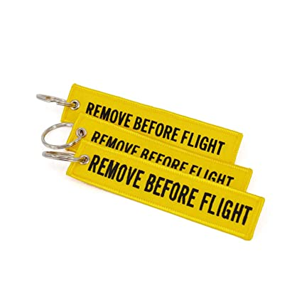 Amazon.com : 5Pcs/Lot Remove Before Flight Key Chain for ...