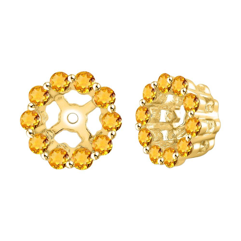 KATARINA Natural Gemstones Earring Jackets in 14K Gold 3//8 cttw