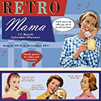 Retro Mama 17-Month Family Calendar/Planner [With Sticker(s) and Magnetic Hanger]