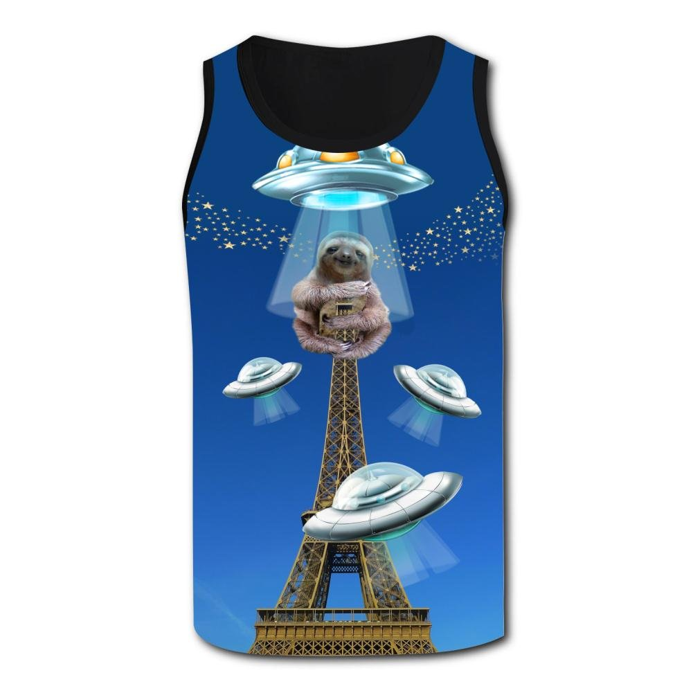 Mens Funny Sloth Holding A Tower Casual Sport Vest