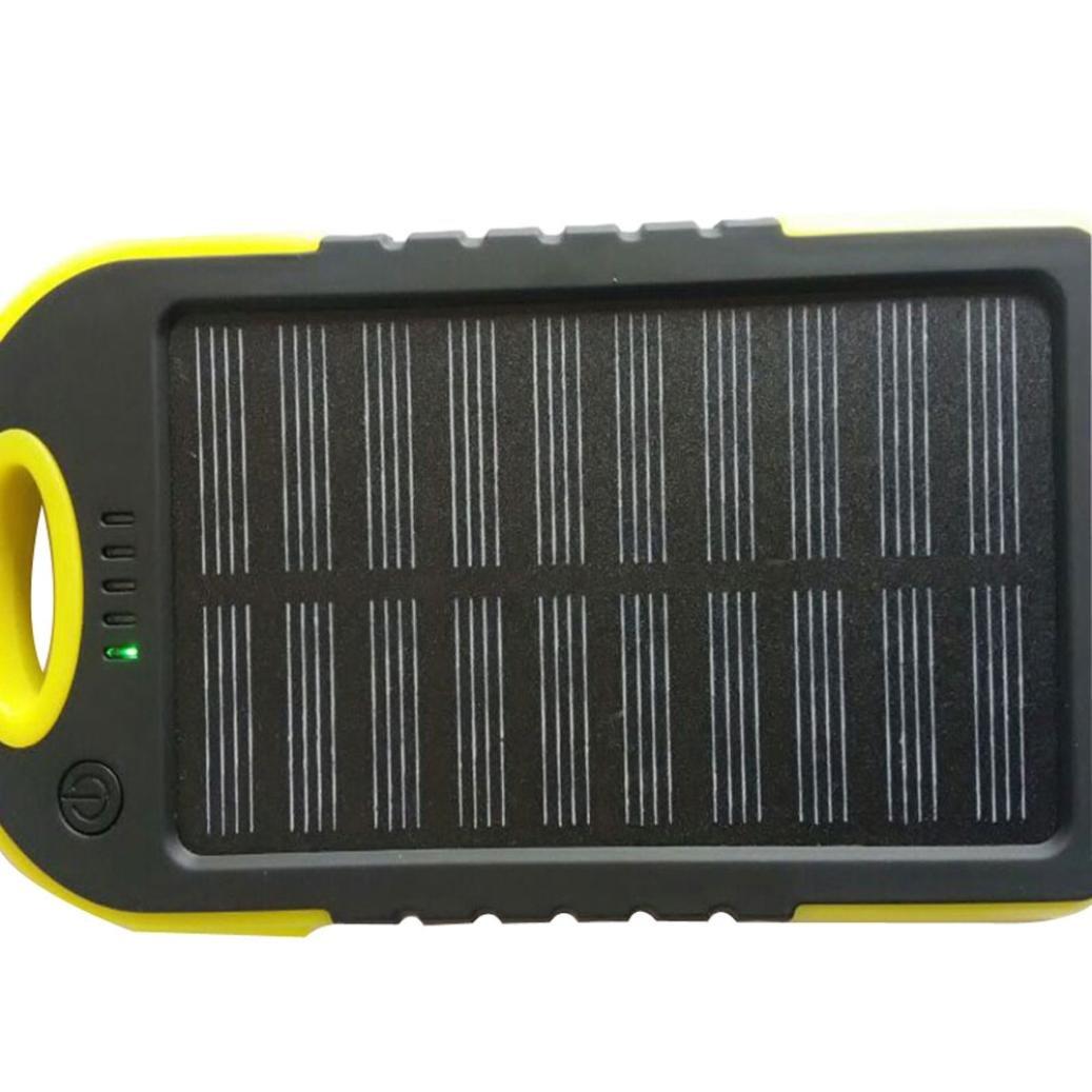 squarex al Aire Libre Viajes Dual USB Cargador de tel/éfono m/óvil Banco de la energ/ía Caso Kit de Bricolaje Solar con luz LED