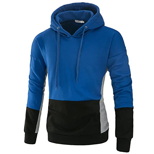 Bleuzee Winter Hoodies Sweatshirt Hip Hop Mens Patchwork Hoody Sweatshirt Brand Pullover Sudaderas Hombre at Amazon Mens Clothing store: