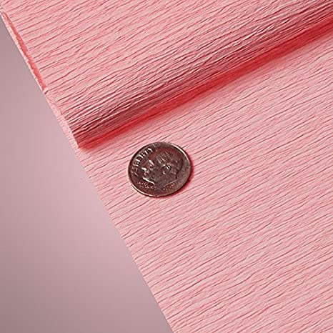 Top quality Italian paper craft PREMIUM COLORED CREPE PAPER Pastel Rose
