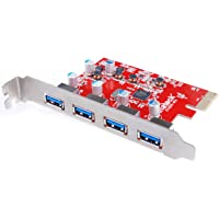 [Mac Pro Auto alimentation]Inateck KT4004 Carte Contrôleur USB 3.0 4 ports PCI Express pour Mac Pro Carte expansion USB 3.0