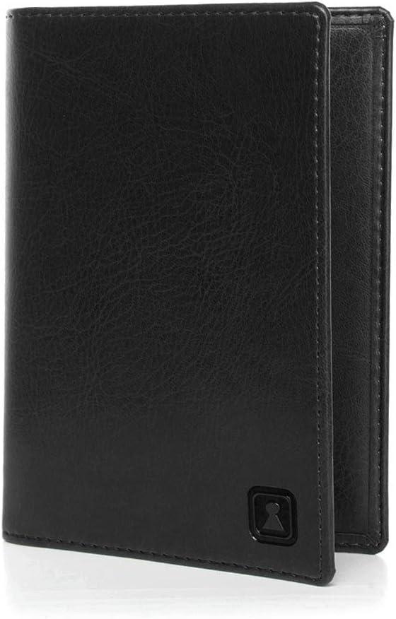 OPTEXX w5282015/Premium /Étui de protection RFID pour passeport Housse de passeport Mika Noir avec protection certifi/ée T/ÜV et zerifiziert en Vegi Cuir