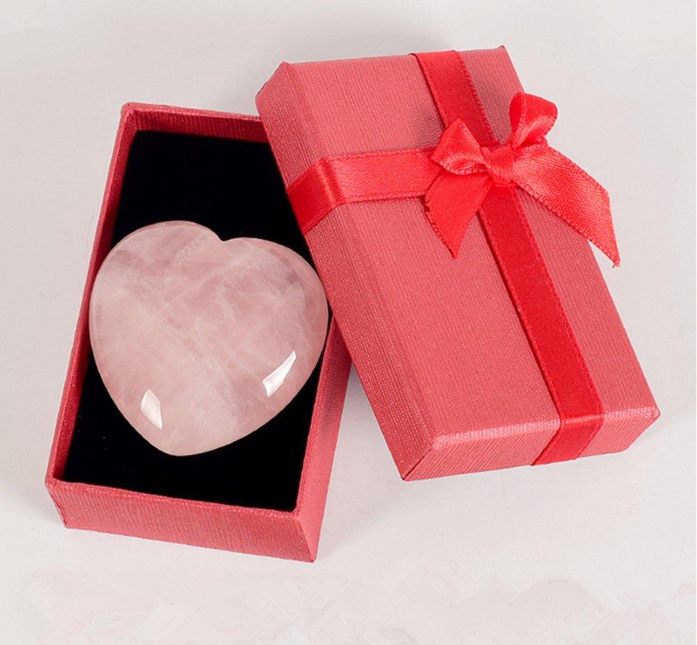 Amazon.com: Love Stone Rose Quartz Heart Healing Crystal Beads ...
