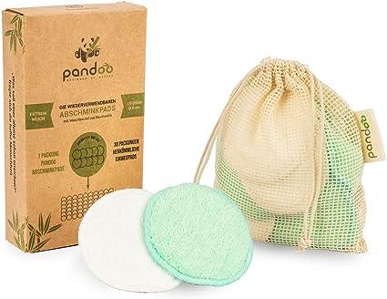 10 almohadillas de maquillaje reutilizables de bambú y algodón ...