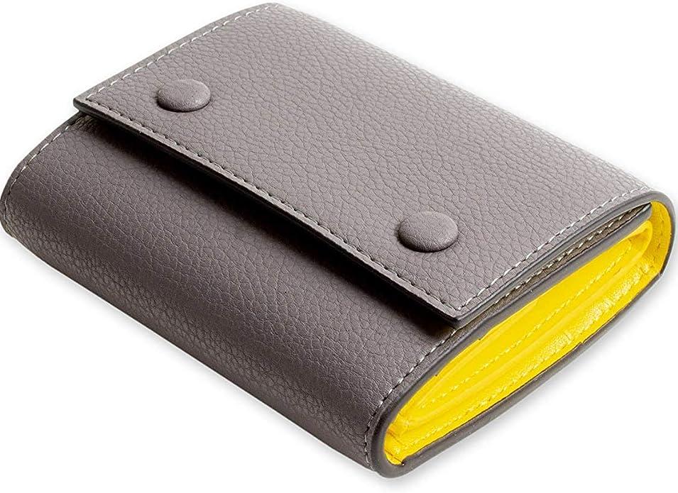 MALTA レザー 財布 三つ折り財布 牛革 ミニ財布 ボックス型 小銭入れ カード入れ 大容量 ツートンカラー 3つ折り コンパクト メンズ レディース 全5色
