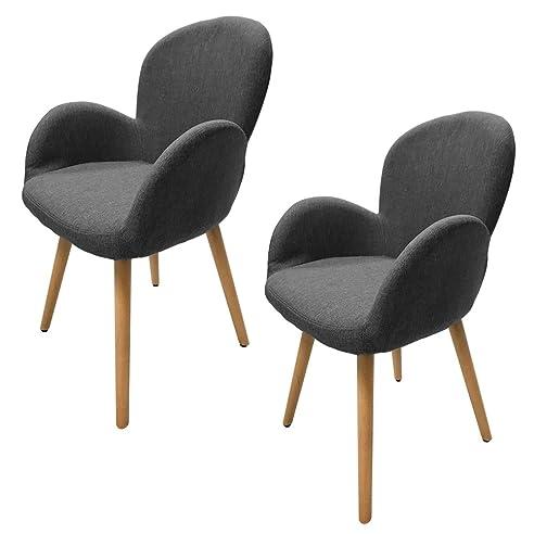 Konferenzstuhl grau  MCTECH® 2x Stuhl Esszimmerstühle Esszimmerstuhl Stuhlgruppe ...