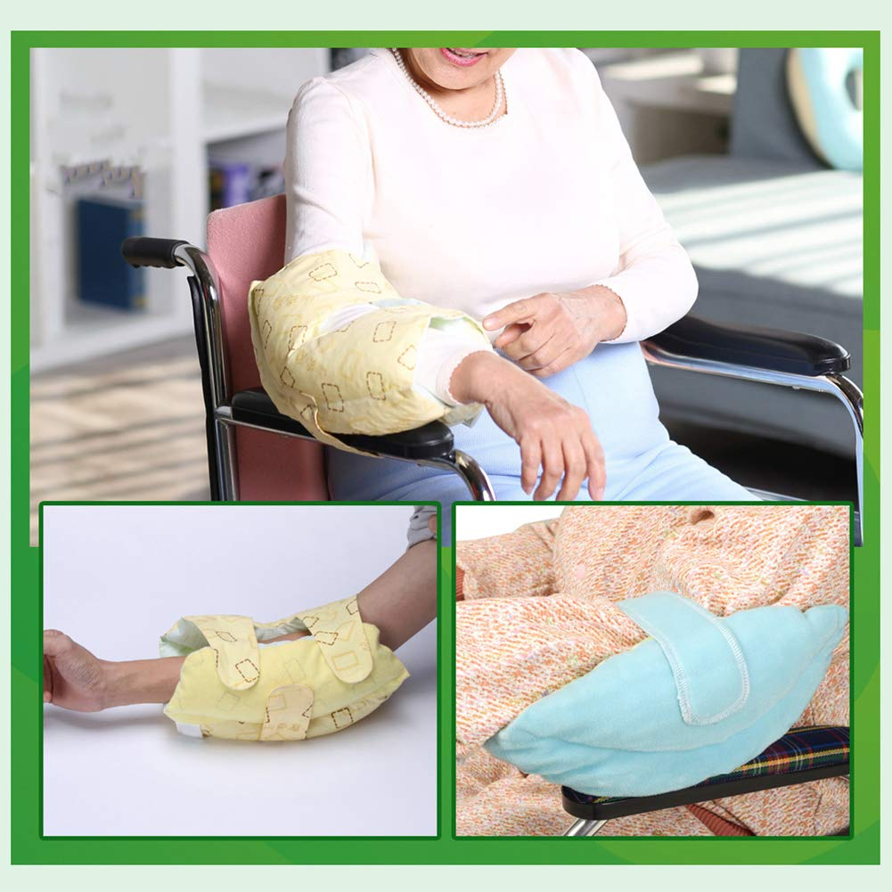 Medical Care Adult Elbow Support Brace Yellow Cover for Disabled Person in Wheelchair - Size 11.8x7.8 Inches by Fushida
