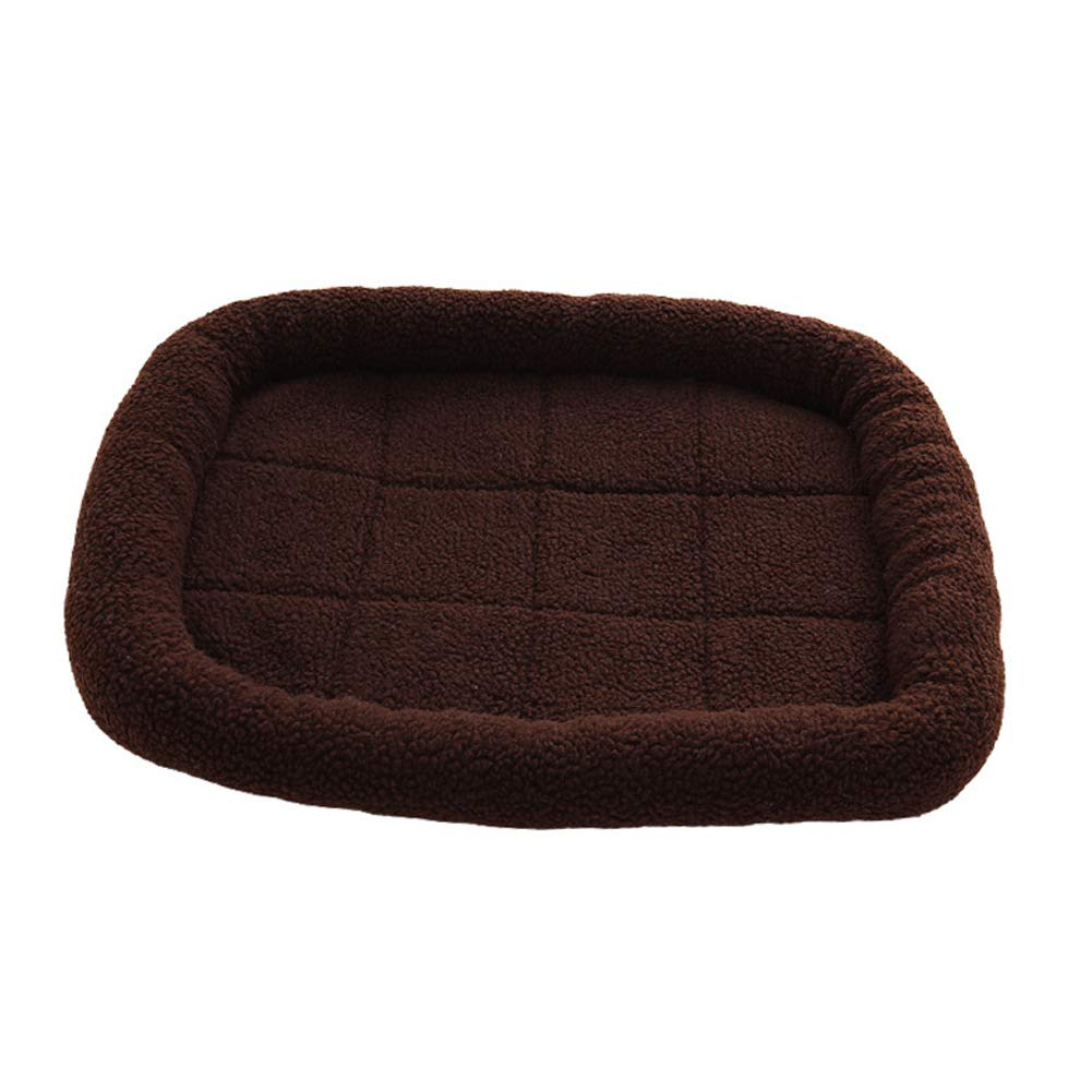 Brown 6050cm Brown 6050cm Winter Pet Mats Kennel Cattery Cage Mat Mattress for All Whippet, Poodle, Greyhound, Samoyed, Bullmastiff, English Cocker Spaniel (Four Seasons)
