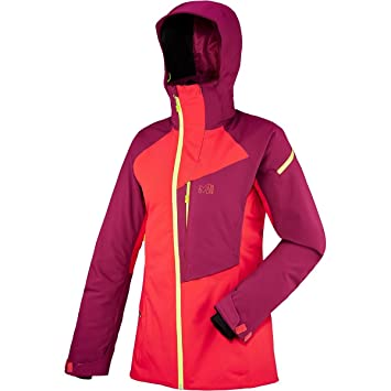 Millet MIV6980 Chaqueta Deportiva, Mujer, Gris (Hibiscus/Velvet Red), XS