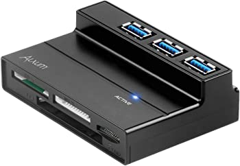 Alxum 3 Ports USB 3.0 Hub with Multi-In-1 Card Reader