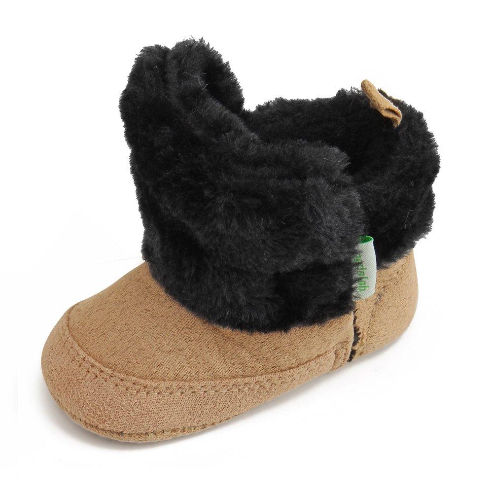 DELEBAO Botas para Bebe Niña Zapatos Bebé Primeros Pasos Suela Blanda Zapatillas Recien Nacido Calzado Invierno Bebes