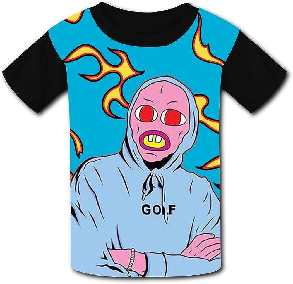 MY-Fish Black Raglan T-Shirts Short Sleeve Cherry Explosion Sports Sweat Tee for Kids Boys Girls
