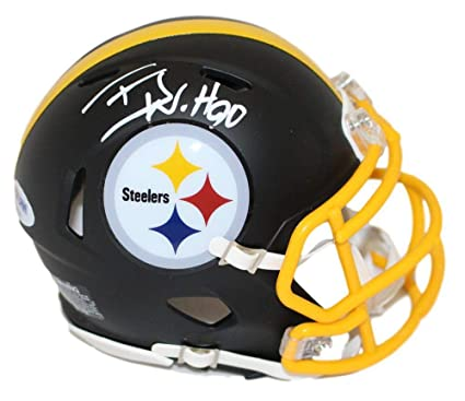 d5b86d352 Amazon.com  TJ Watt Autographed Signed Pittsburgh Steelers Black Mini  Helmet PSA  Sports Collectibles